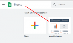 monthly budget free google sheets